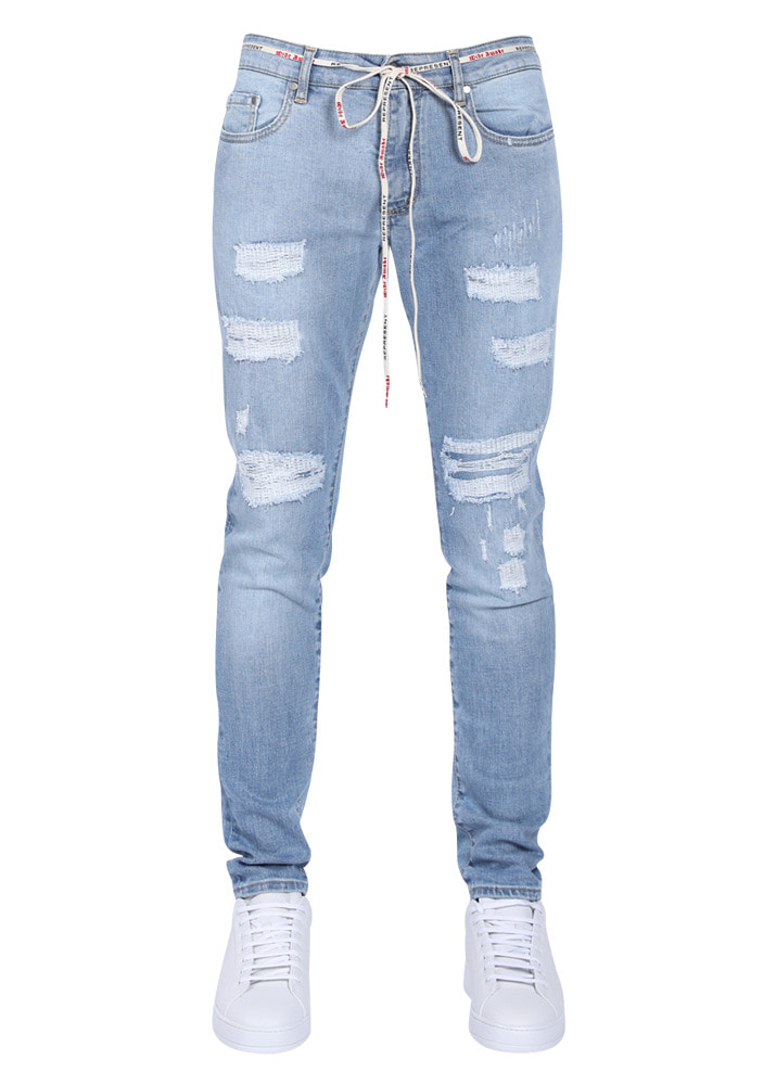 Represent 18SS Blue Stone Wash Repair Denim