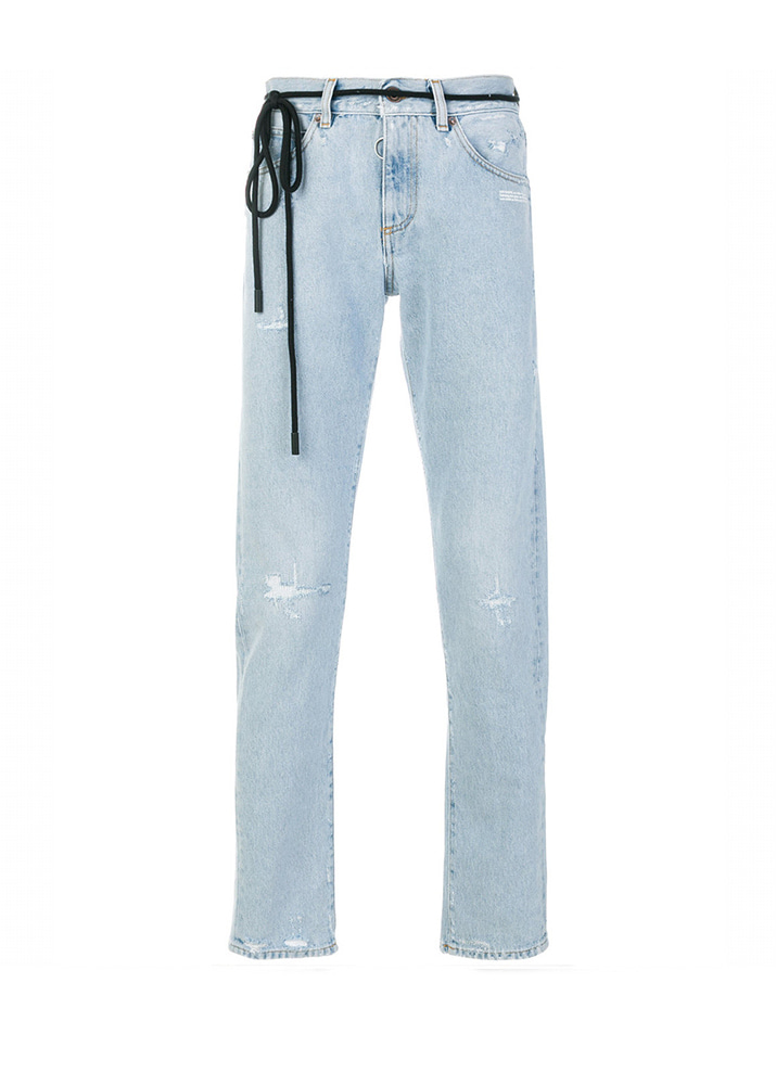 Off White 18SS Temperature Slim fit Denim