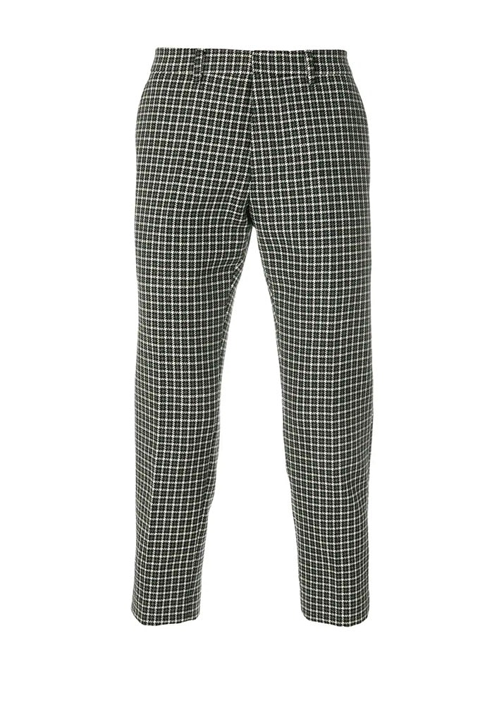 AMI 18FW Dog Tooth Cropped Trousers [Grey/Black]